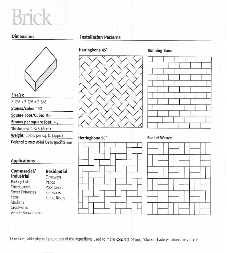 diagram of brick pattern