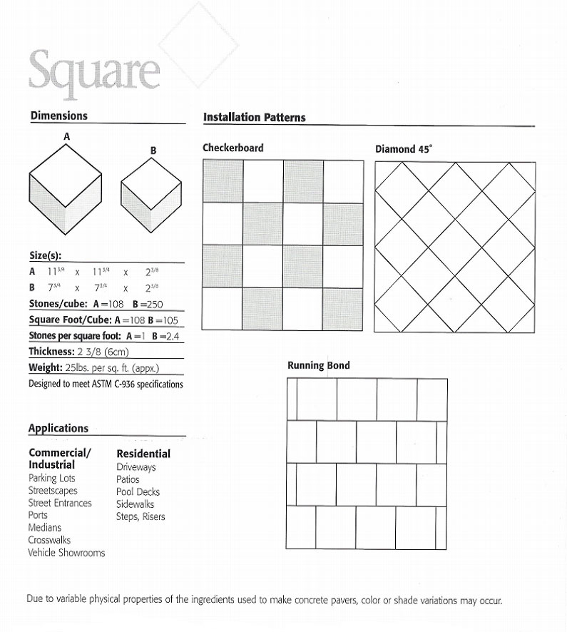 diagram of square patterns